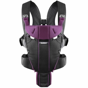 BabyBj�rn Miracle Baby Carrier - Black/Purple