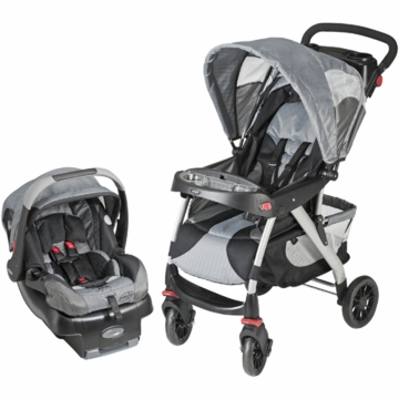 Evenflo Euro Trek Travel System in Gray Race