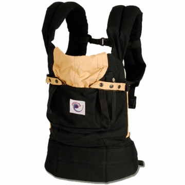 ERGO Baby Carrier in Black / Camel