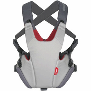 Phil & Teds Pepe Front Carrier in Grey/Red