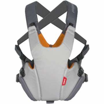 Phil & Teds Pepe Front Carrier in Grey/Orange