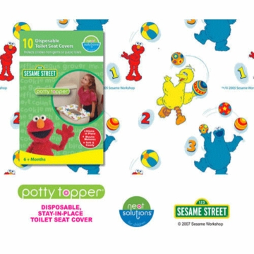 Neat Solutions Potty Topper Sesame Street - 10 count