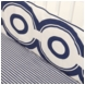 Oilo Wheels Crib Sheet in Cobalt Blue