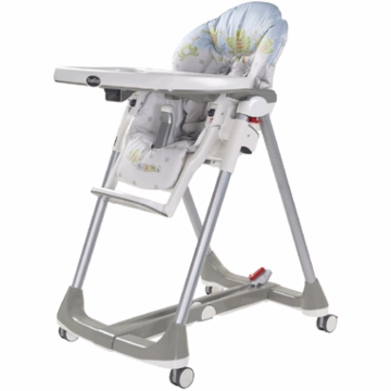 Peg Perego Prima Pappa Diner High Chair 2007 Ranocchi Grigio Fabric
