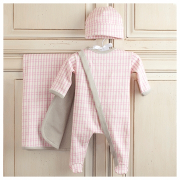 Oilo Newborn 3-Piece Layette Set in Newborn Pink