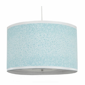 Oilo Raindrops Large Cylinder Light in Aqua