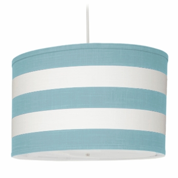 Oilo Stripe Large Cylinder Light in Aqua