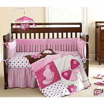 Lambs & Ivy Flutter 4 Piece Crib Bedding Set