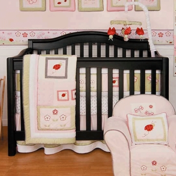 KidsLine Lady Bug 6 Piece Crib Bedding Set