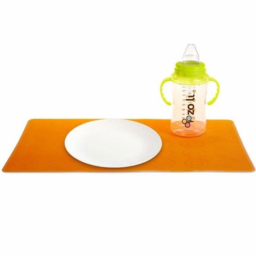 ZoLi Matties Silicone Travel Place Mats (2 mats per pack) - Orange