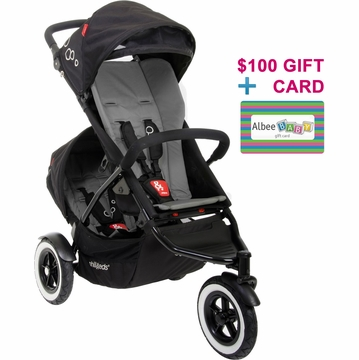 Phil & Teds Dot Double Buggy - Flint with FREE $100 Gift Certificate