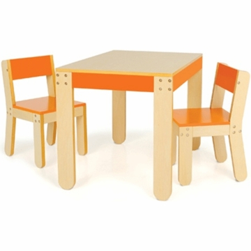 P'kolino Little One's Table & Chairs in Orange