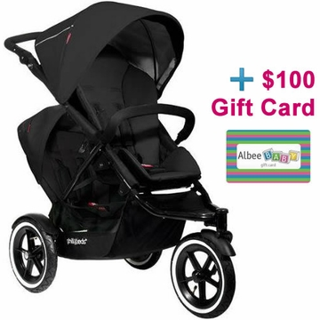 Phil & Teds Navigator Double Buggy - Black with FREE $100 Gift Certificate