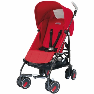 Peg Perego Pliko Mini Lightweight Stroller - Fire Red