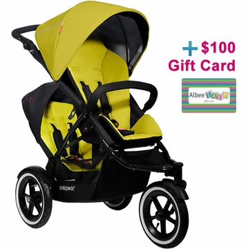 Phil & Teds Navigator Double Buggy - Kiwi with FREE $100 Gift Certificate