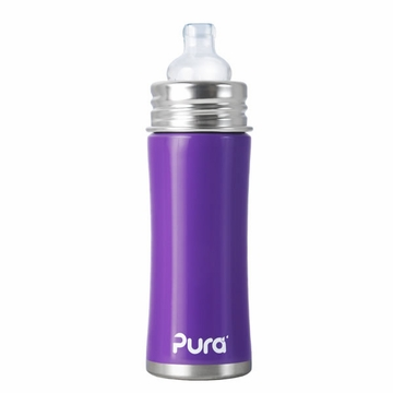 Pura Stainless Kiki 11 oz Sippy Bottle - Grape