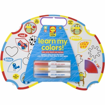 Alex Toys Learn My Colors-Little Hands Wipe Off Board and Markers