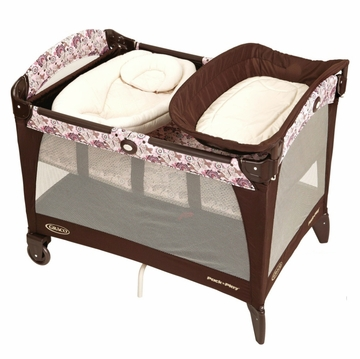 Graco Pack 'n Play Playard with Newborn Napper Station - Carina with FREE Pack 'n Play Sheet and Changing Pad Cover