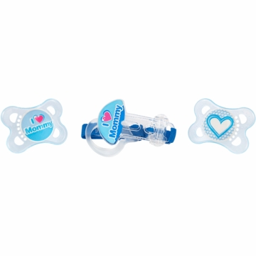MAM Baby MAM 2 Love & Affection + Clip Pacifier- Boy