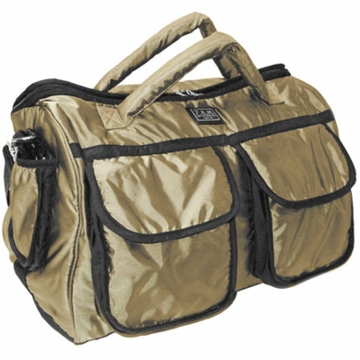7 A.M. Enfant Voyage Diaper Bag Small in Metallic Gold