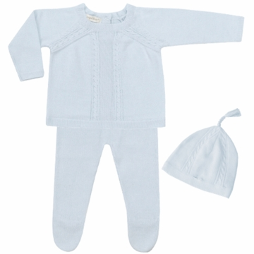 Angel Dear Boy's 3 Piece Take Me Home Set in Powder Blue - Newborn