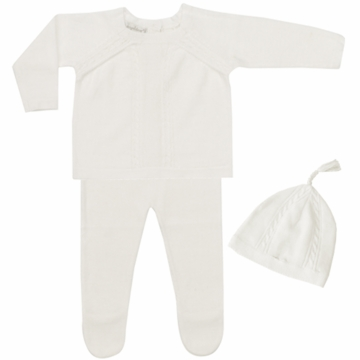 Angel Dear Boy's 3 Piece Take Me Home Set in Ivory - Newborn