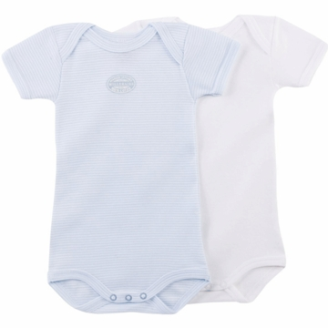 Petit Bateau Baby Boy Short Sleeved Bodysuits-3 Months