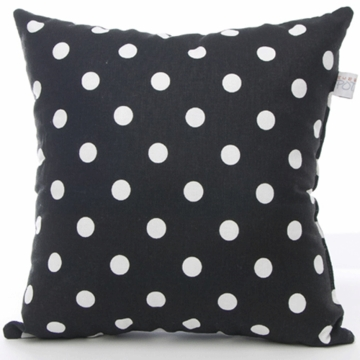 Sweet Potato Dottie Small Black Dot Pillow