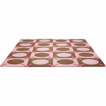 Skip Hop Playspot Interlocking Foam Tiles in Pink / Brown