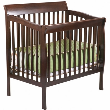 Delta Riley Mini Crib - Dark Cherry