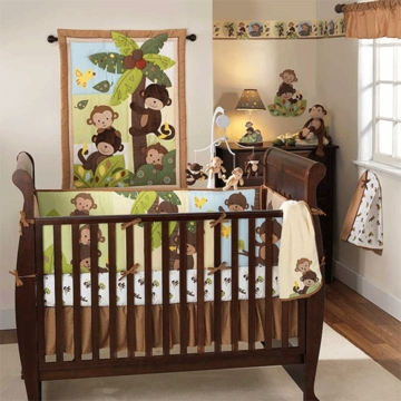Bedtime Originals Curly Tails 3 Piece Crib Bedding Set