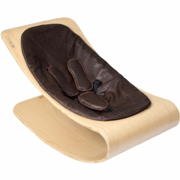 Bloom Coco Style Wood Natural Baby Lounger in Henna Brown
