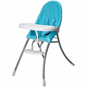 Bloom Nano Folding High Chair in Paradise Blue