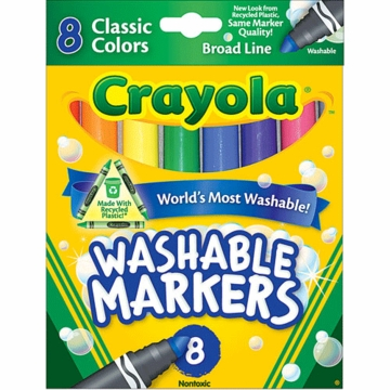 Crayloa Washable Markers Set 8 Count