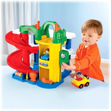 Fisher Price Little People Racin' Ramps Toy Car Garage