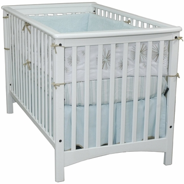 Child Craft London Euro Crib in Matte White