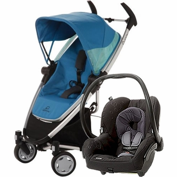 Quinny Zapp Xtra + Maxi Cosi Mico Travel System 2012 Blue Scratch / Total Black