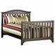 Child Craft Hawthorne Hook-on Full Bed Rails in Espresso