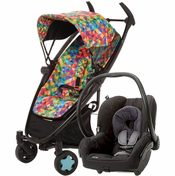 Quinny Zapp Xtra + Maxi Cosi Mico Travel System 2012 Vivid Colors / Total Black