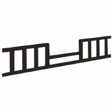 Child Craft Watterson Toddler Guard Rails in Jamocha