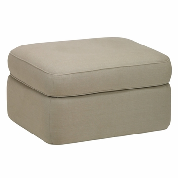 DwellStudio Rounded Ottoman - Linen Natural
