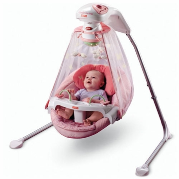 Fisher Price Butterfly Garden Papasan Cradle Swing