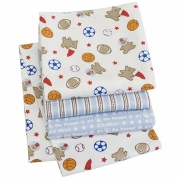 Carter's 4 Pack Wrap-Me-Up Receiving Blankets - Bear Sports