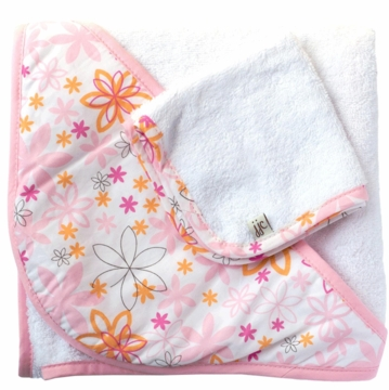 JJ Cole Hooded Towel Pink Craze