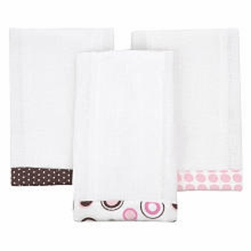 Carter's 3 Pack Burp Pads - Pink Circle