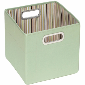 "JJ Cole Storage Box 11"" - Green Stripe"
