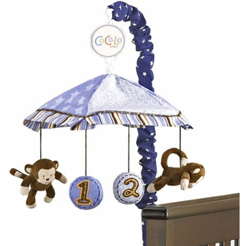 CoCaLo Baby Monkey Mania Musical Mobile