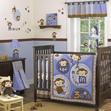 CoCaLo Baby Monkey Mania 6 Piece Crib Bedding Set