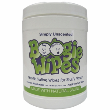 Boogies Wipes Canister Unscented - 120 ct