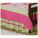 Sweet JoJo Designs Flower Pink and Green Toddler Bed Skirt